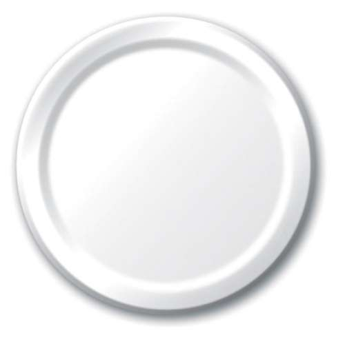 White Lunch Plates